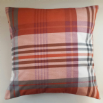 "Cushion Cover in Next Orange Tartan Brushed Cotton 16"" Matches Bedding"
